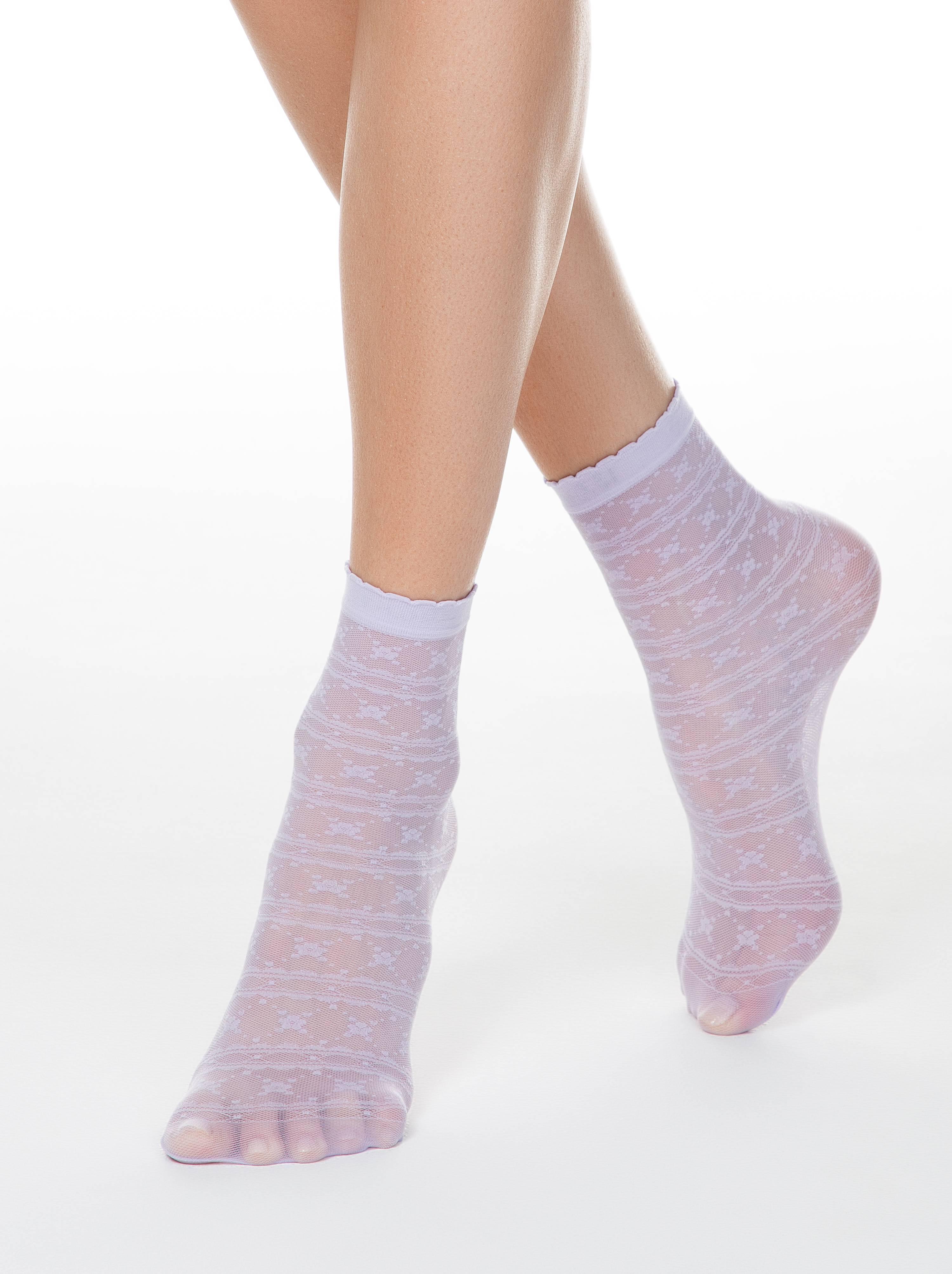 Тонкие носки FANTASY с ажурным рисунком фото