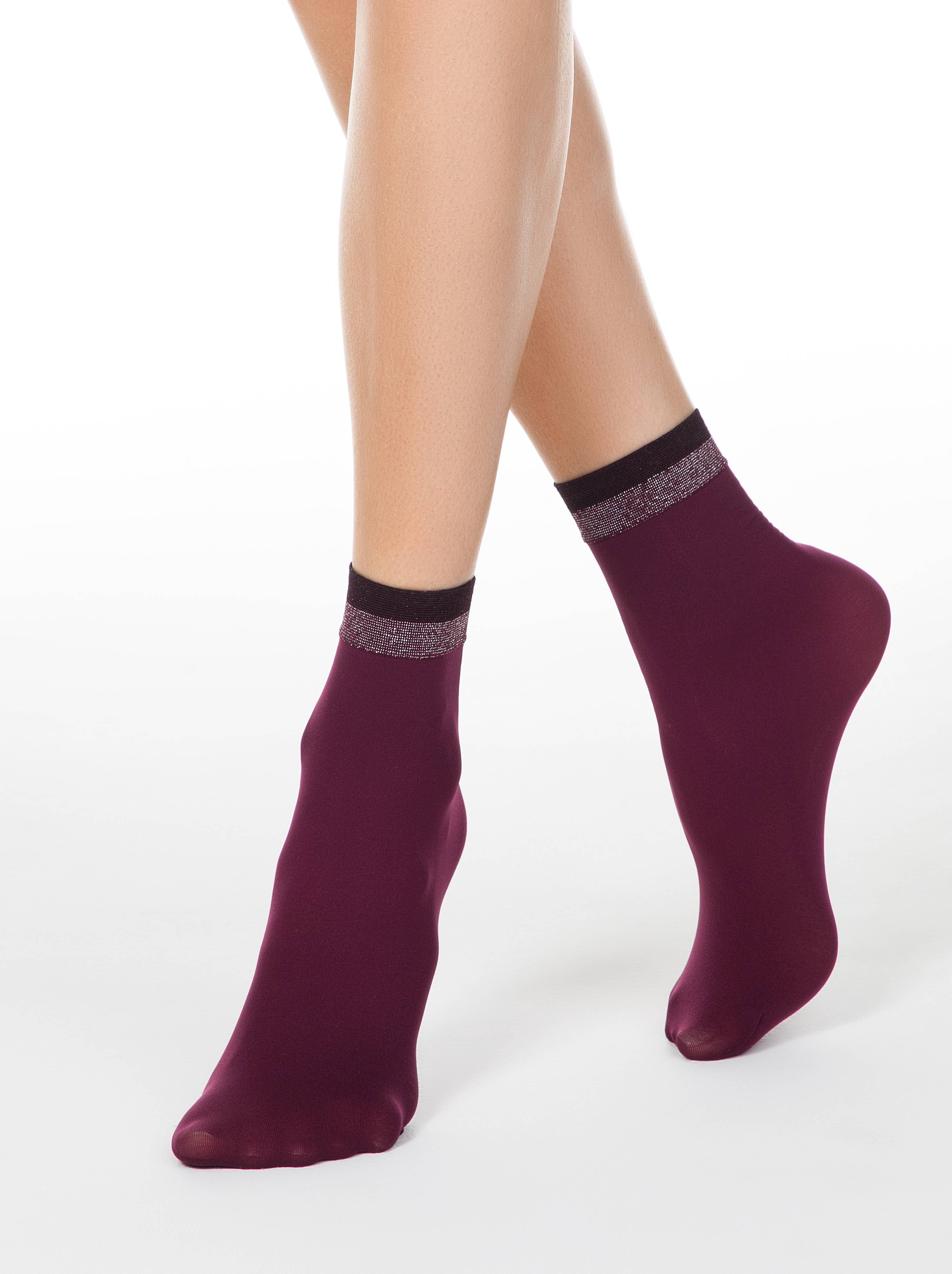 Носки FANTASY с сияющим бортиком из двухцветного люрекса фото
