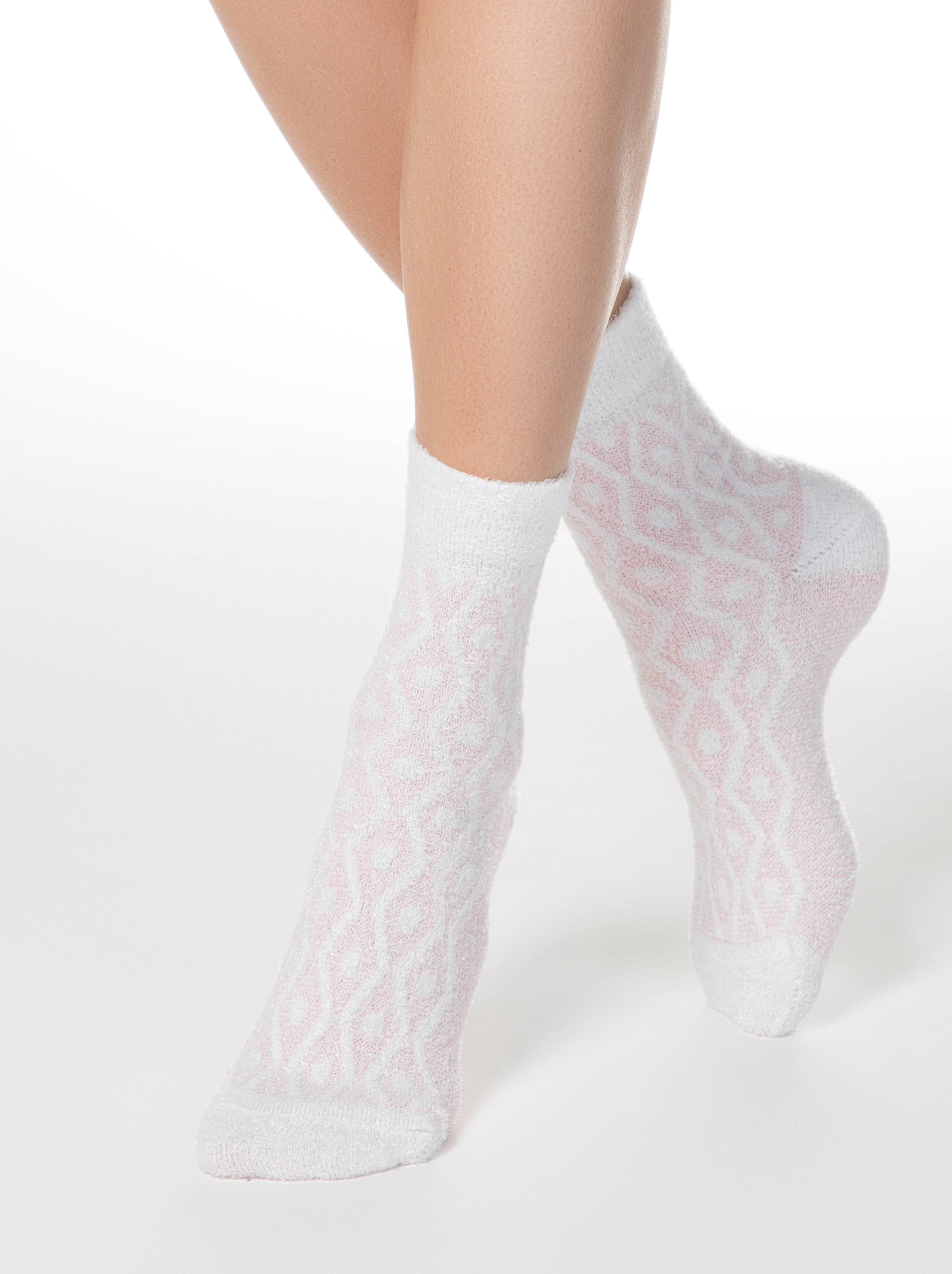 Теплые носки COMFORT с пушистым рельефным рисунком фото
