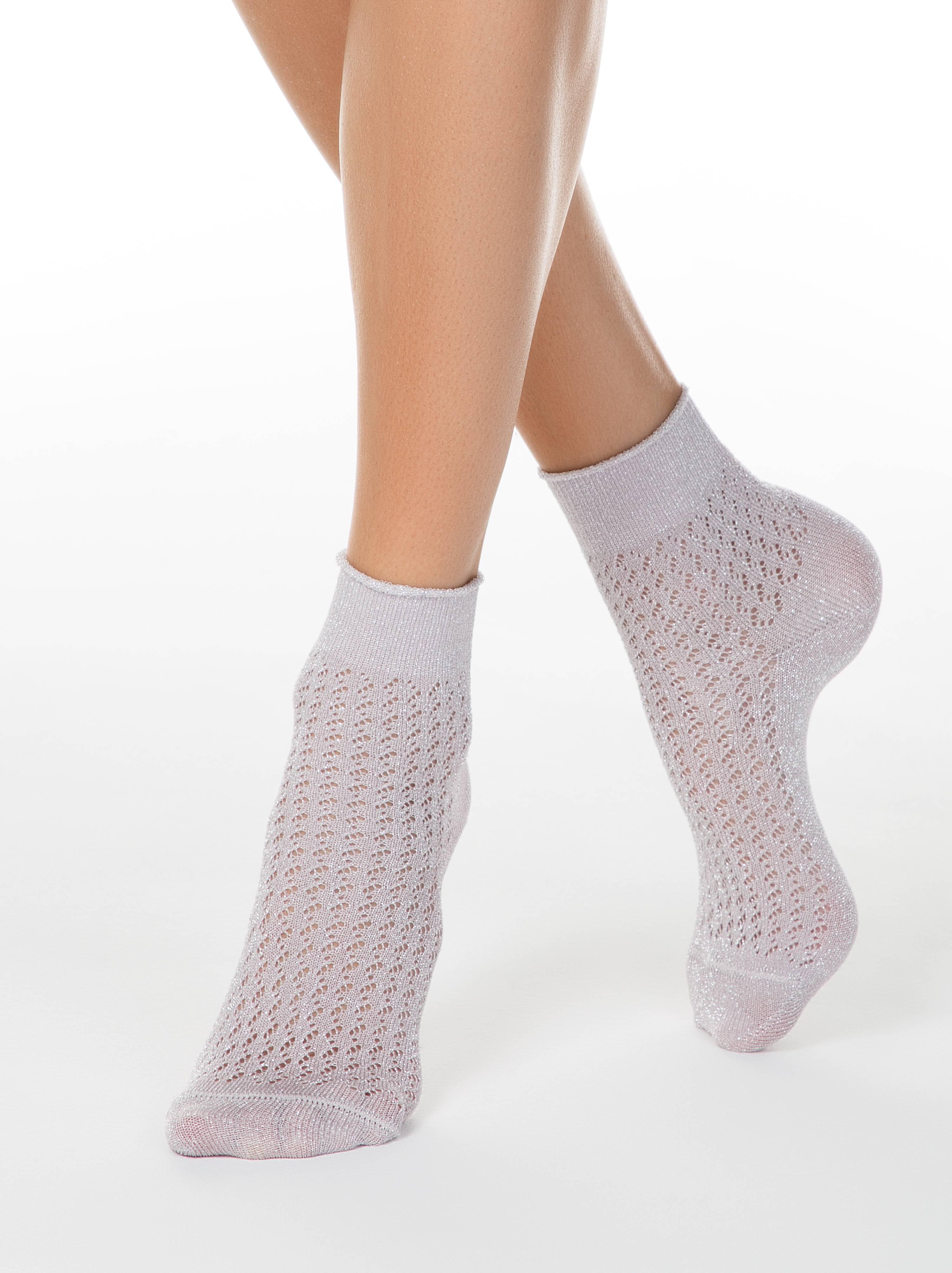Ажурные носки AJOUR из вискозы с люрексом фото