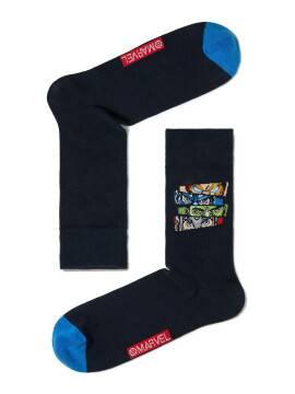 носки мужские носки с рисунками героев ©marvel 17С-140СПМ, размер 25, цвет темно-синий