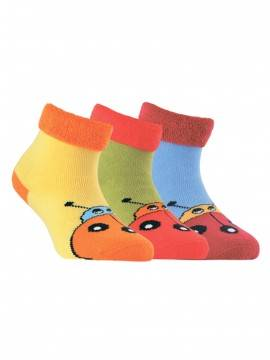 Носки хлопковые детские SOF-TIKI (махровые с отворотом) 6С-19СП, размер 14, цвет голубой