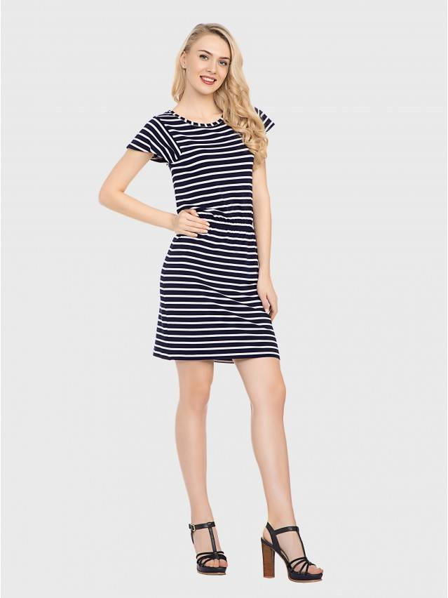 Платье LPL 733, р.158,164-84-90, синий-белый - 2