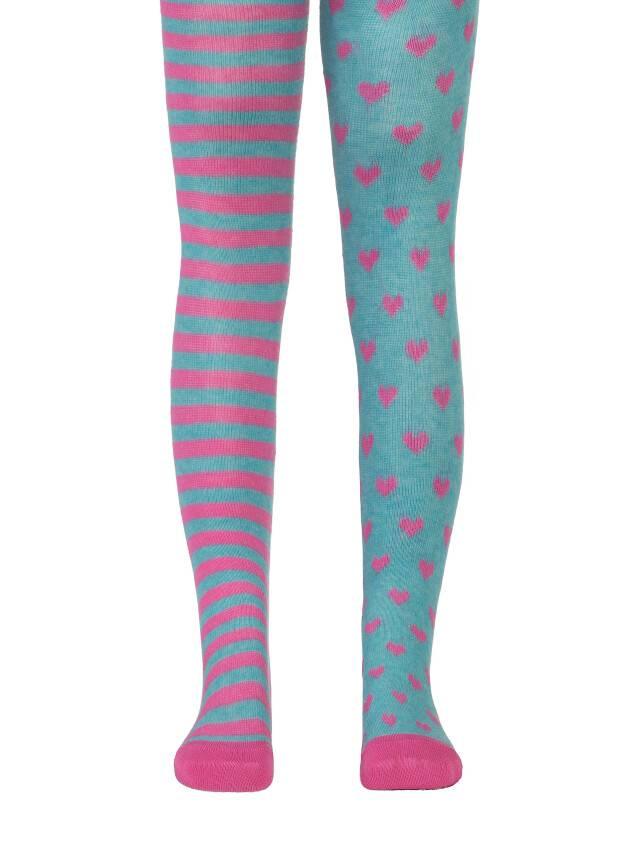 Колготки хлопковые детские TIP-TOP (веселые ножки) 14С-79СП, p. 62-74, бирюза-розовый, рис. 355 - 1