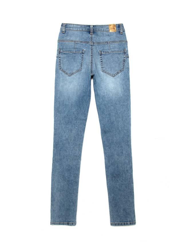 Джинсы skinny с высокой посадкой CON-240, р.170-102, acid washed mid blue - 4