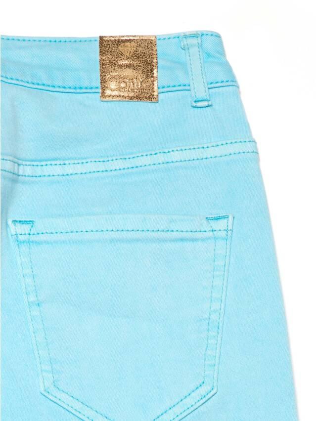 Джинсы skinny с высокой посадкой CON-219, р.170-102, washed aqua blue - 7