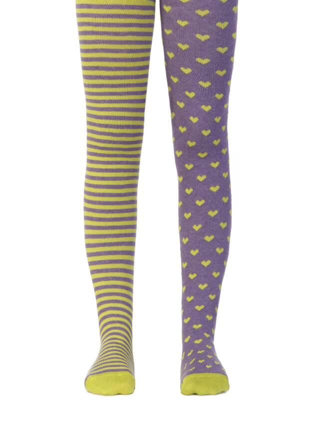 Колготки хлопковые детские TIP-TOP (веселые ножки) 14С-79СП, p. 62-74, фиолетовый-темно-салатовый, рис. 355 - 1