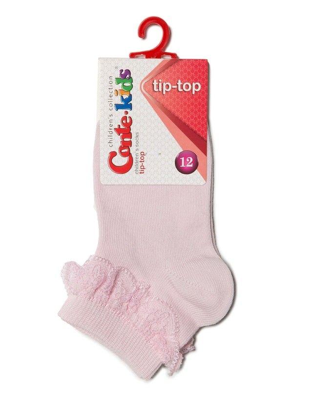Носки хлопковые детские TIP-TOP (с кружевной лентой) 7С-11СП, p. 12, светло-розовый, рис. 000 - 2