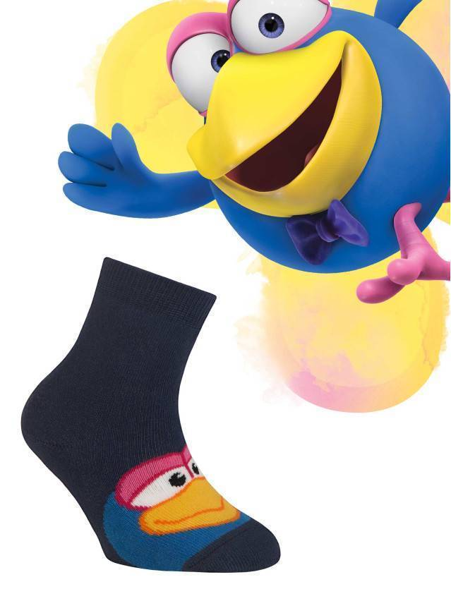 Носки хлопковые детские Смешарики (махровые) 7С-46СП, p. 12, темно-синий, рис. 268 - 1