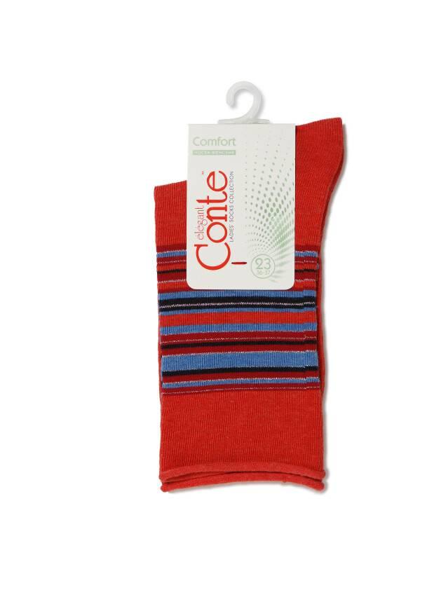 Носки хлопковые женские COMFORT (без резинки) 7С-51СП, р. 36-37, красный, рис. 027 - 3