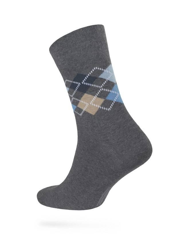 Носки мужские COMFORT (меланж) 7С-26СП, р. 40-41, темно-серый, рис. 014 - 1