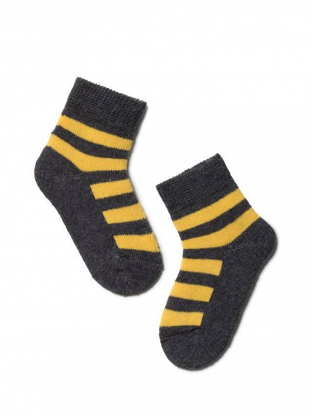 Носки хлопковые детские SOF-TIKI (махровые) 7С-46СП, p. 10, темно-серый-желтый, рис. 210 - 1