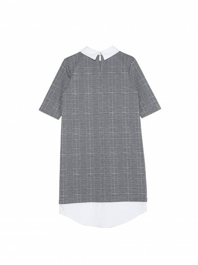Платье LPL 1052, р.164-84-90, grey-ivory check - 5