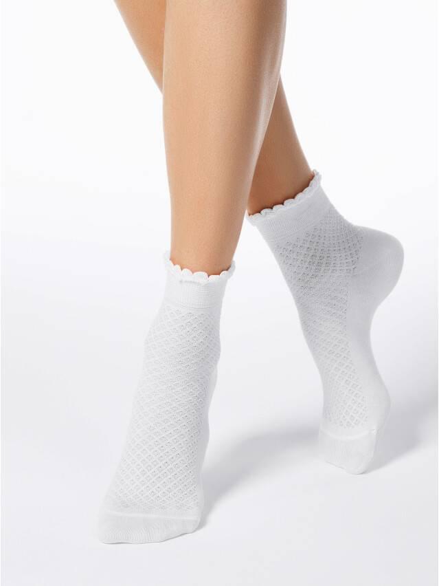 Носки хлопковые женские CLASSIC (тонкие, пикот) 15С-22СП, р. 36-37, белый, рис. 055 - 1