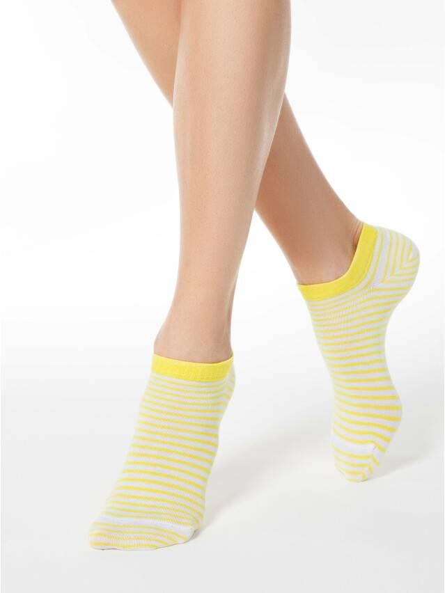 Носки хлопковые женские ACTIVE (ультракороткие) 15С-46СП, р. 36-37, белый-желтый, рис. 073 - 1