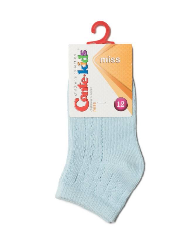Носки хлопковые детские MISS (ажурные) 7С-76СП, p. 12, светло-голубой, рис. 112 - 2