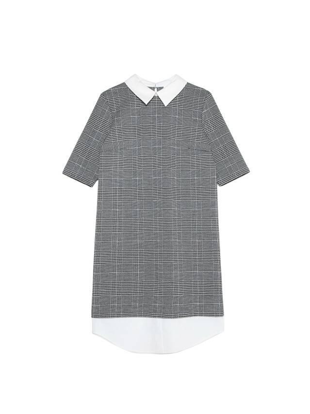 Платье LPL 1052, р.164-84-90, grey-ivory check - 4