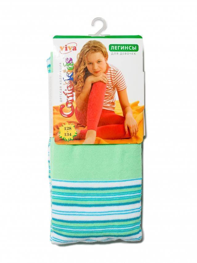 Леггинсы для девочек VIVA 6С-14СП, p. 128-134, светло-зеленый, рис. 007 - 2