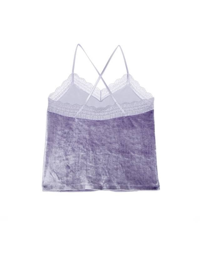 Velour top for home VELVET LOUNGEWEAR LHW 1008, s.170-84, grey-lilac - 4