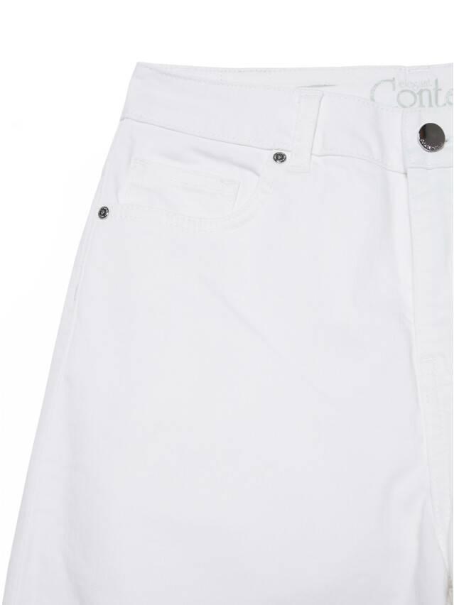 Джинсовые брюки с высокой посадкой CON-243, р.170-102, white - 8