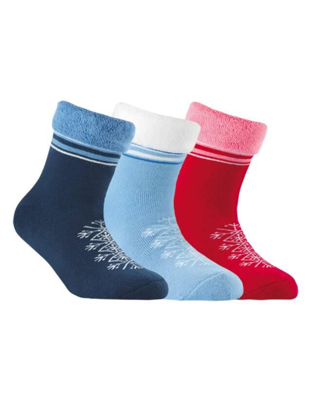 Носки хлопковые детские SOF-TIKI (махровые с отворотом) 6С-19СП, p. 20, бордо, рис. 045 - 1
