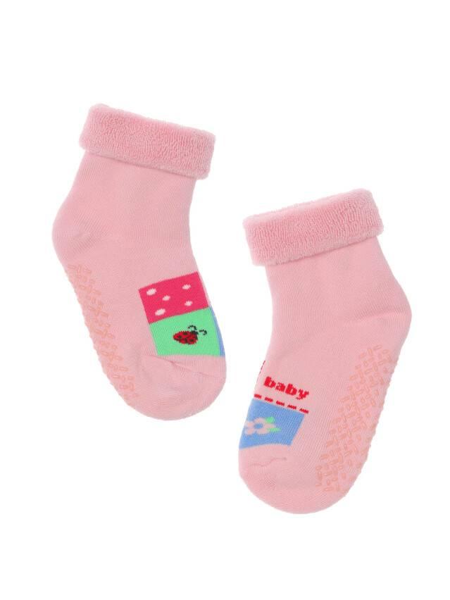 Носки хлопковые детские SOF-TIKI (махровые с отворотом, антискользящие) 7С-62СП, p. 12, светло-розовый, рис. 104 - 1