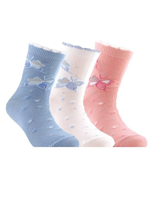 Носки хлопковые детские TIP-TOP (стразы, люрекс) 7С-45СП, p. 18, светло-розовый, рис. 086 - 1