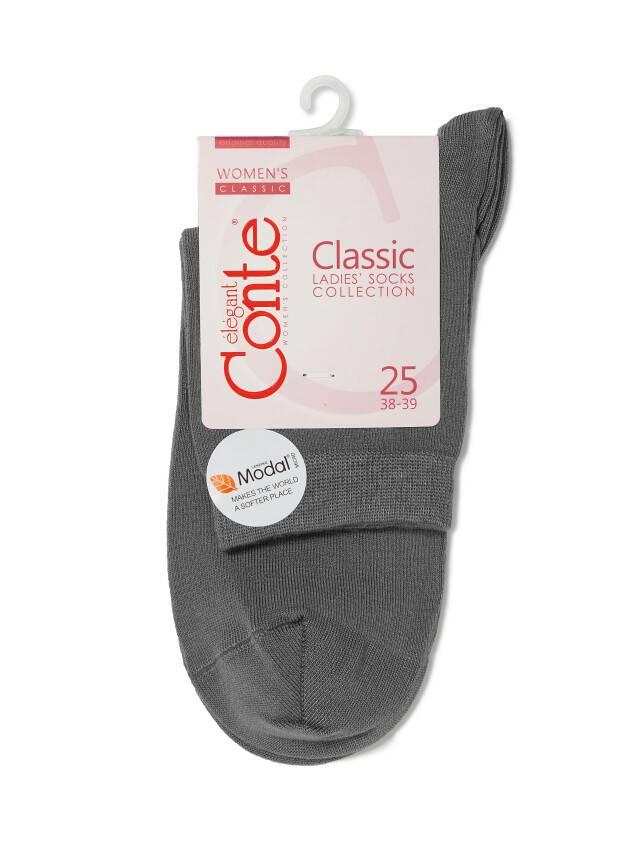 Носки вискозные женские CLASSIC (микромодал) 13С-64СП, р. 36-37, темно-серый, рис. 000 - 3