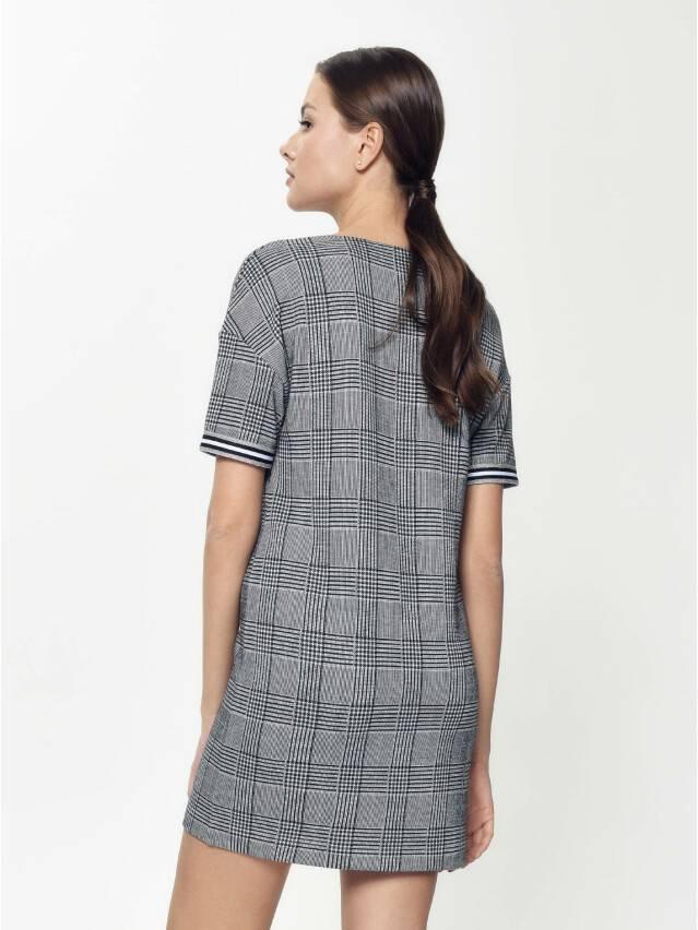 Ультрамодное платье А-силуэта в клетку LPL 893 4