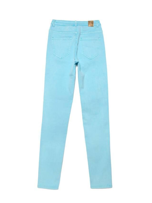 Джинсы skinny с высокой посадкой CON-219, р.170-102, washed aqua blue - 4