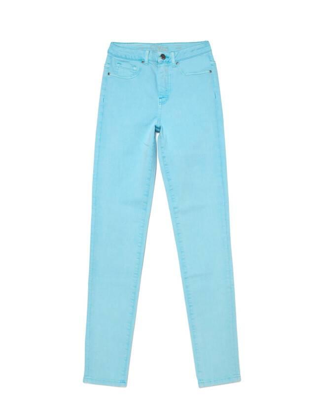 Джинсы skinny с высокой посадкой CON-219, р.170-102, washed aqua blue - 3
