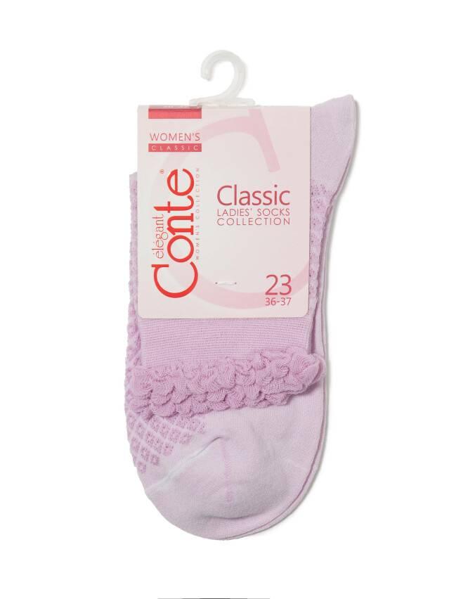 Носки хлопковые женские CLASSIC (тонкие, пикот) 15С-22СП, р. 36-37, сиреневый, рис. 055 - 3