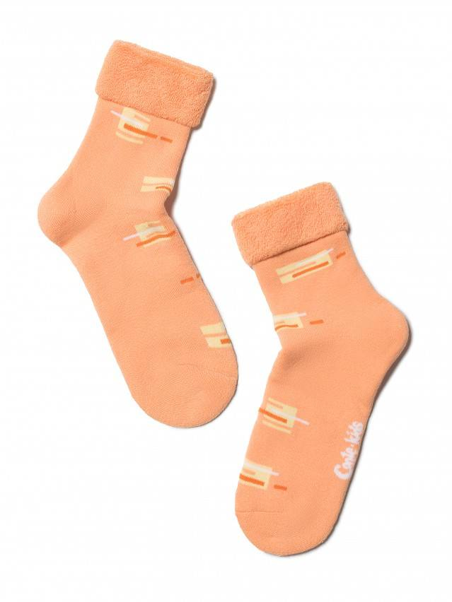 Носки хлопковые детские SOF-TIKI (махровые с отворотом) 6С-19СП, p. 20, персик, рис. 047 - 1