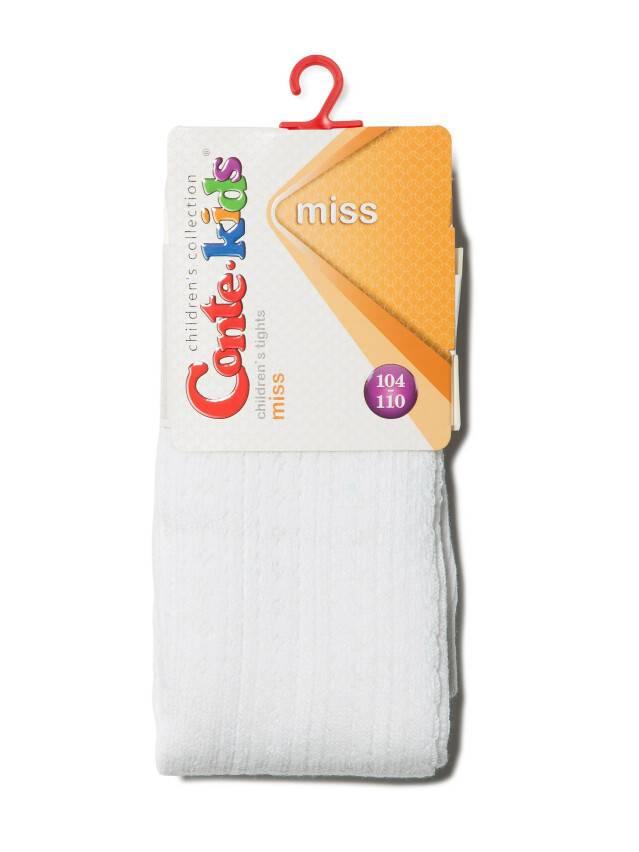 Колготки хлопковые детские MISS (ажурные) 7С-80СП, p. 104-110, белый, рис. 270 - 2