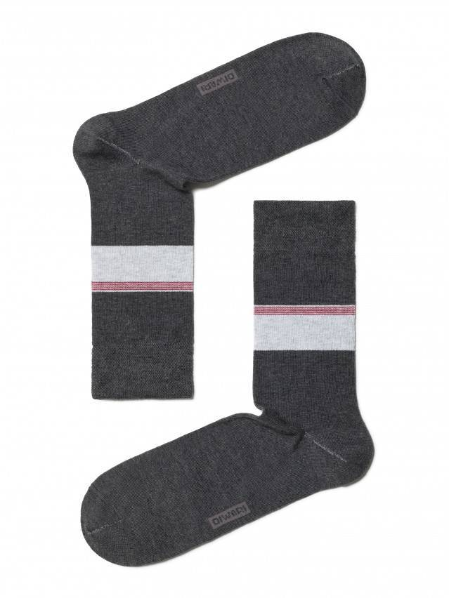 Носки мужские COMFORT (меланж) 7С-26СП, р. 40-41, темно-серый, рис. 039 - 1