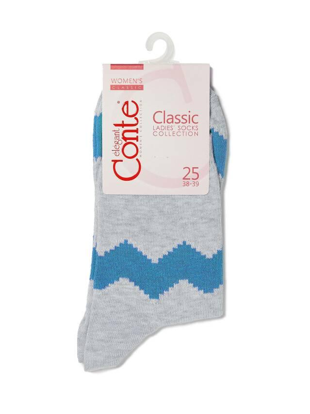 Носки хлопковые женские CLASSIC (люрекс) 15С-21СП, р. 36-37, серый-бирюза, рис. 065 - 3