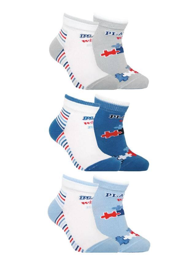 Носки хлопковые детские TIP-TOP (2 пары) 7С-91СП, p. 12, белый-голубой, рис. 702 - 1