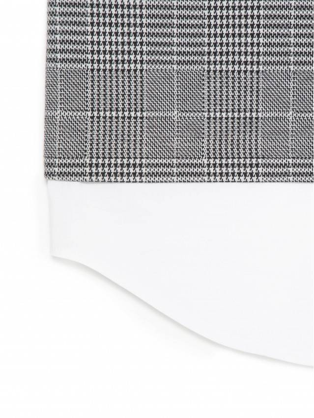 Платье LPL 1052, р.164-84-90, grey-ivory check - 9