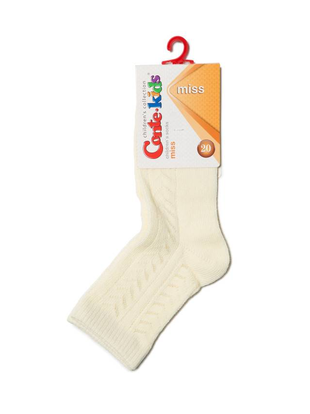 Носки хлопковые детские MISS (ажурные) 7С-76СП, p. 20, кремовый, рис. 114 - 2