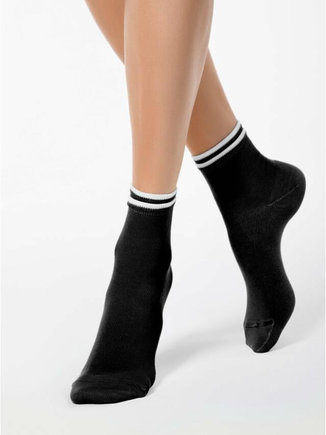 Носки хлопковые женские CLASSIC (декор.резинка) 7С-32СП, р. 36-37, черный, рис. 010 - 1