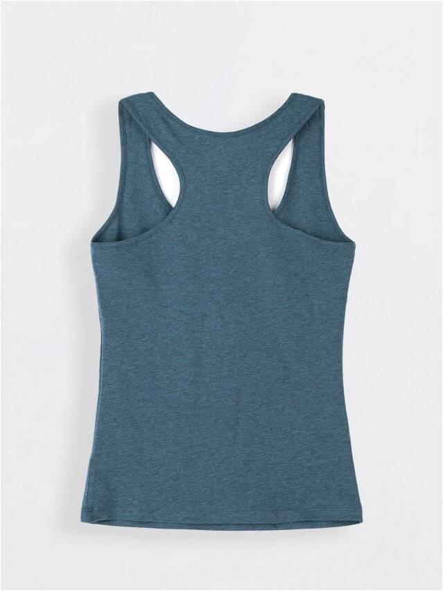 Майка женская BASIC LM 646, р.158,164-100, синий меланж - 2