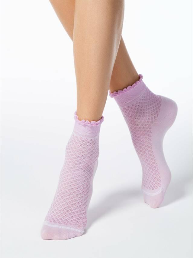 Носки хлопковые женские CLASSIC (тонкие, пикот) 15С-22СП, р. 36-37, сиреневый, рис. 055 - 1