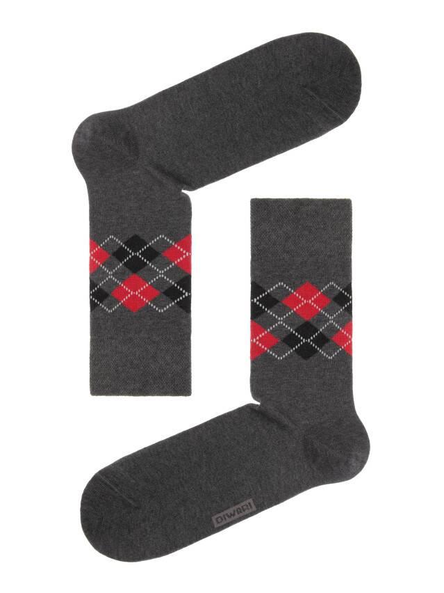 Носки мужские COMFORT (меланж) 7С-26СП, р. 40-41, темно-серый, рис. 015 - 1