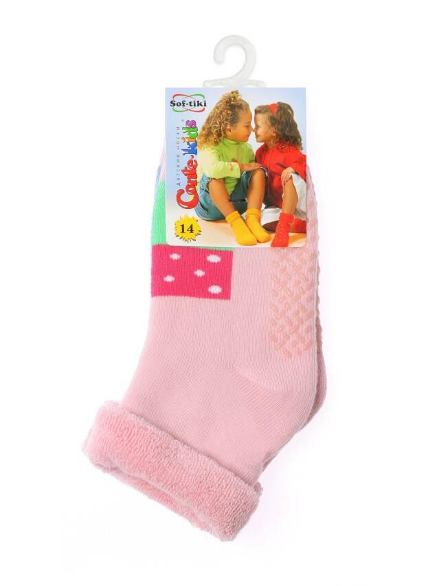 Носки хлопковые детские SOF-TIKI (махровые с отворотом, антискользящие) 7С-62СП, p. 12, светло-розовый, рис. 104 - 2