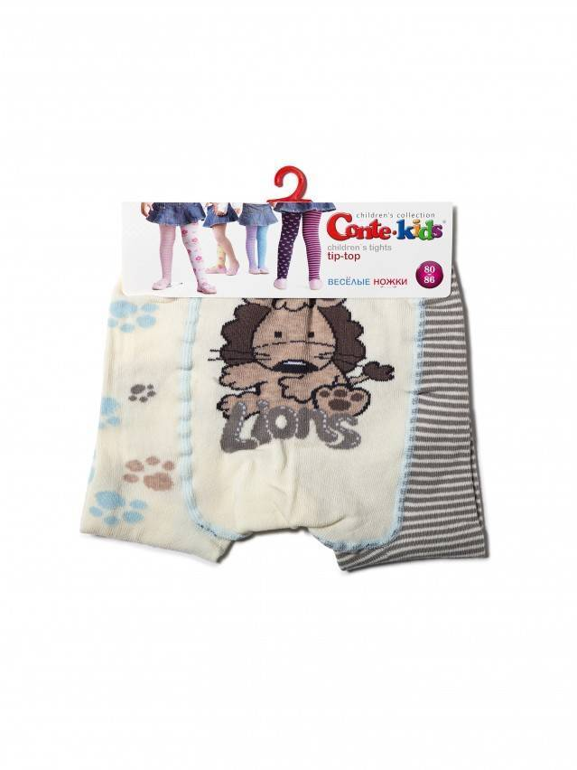 Колготки хлопковые детские TIP-TOP (веселые ножки) 14С-79СП, p. 62-74, капучино-серый, рис. 356 - 3