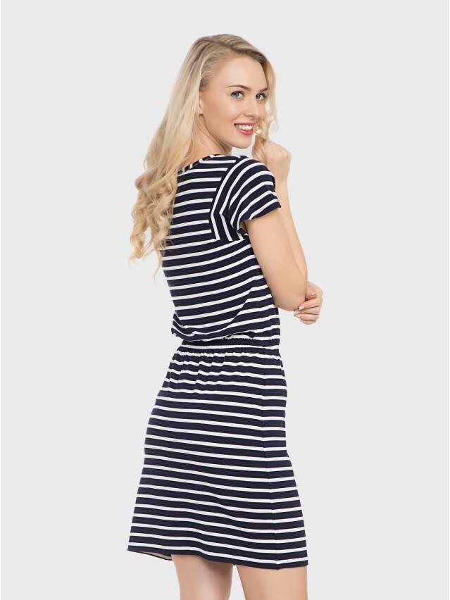 Платье LPL 733, р.158,164-84-90, синий-белый - 1