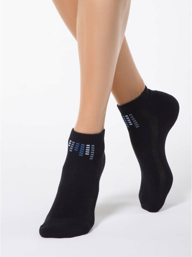 Носки хлопковые женские ACTIVE (короткие, махр.стопа) 7С-41СП, р. 36-37, черный, рис. 017 - 1