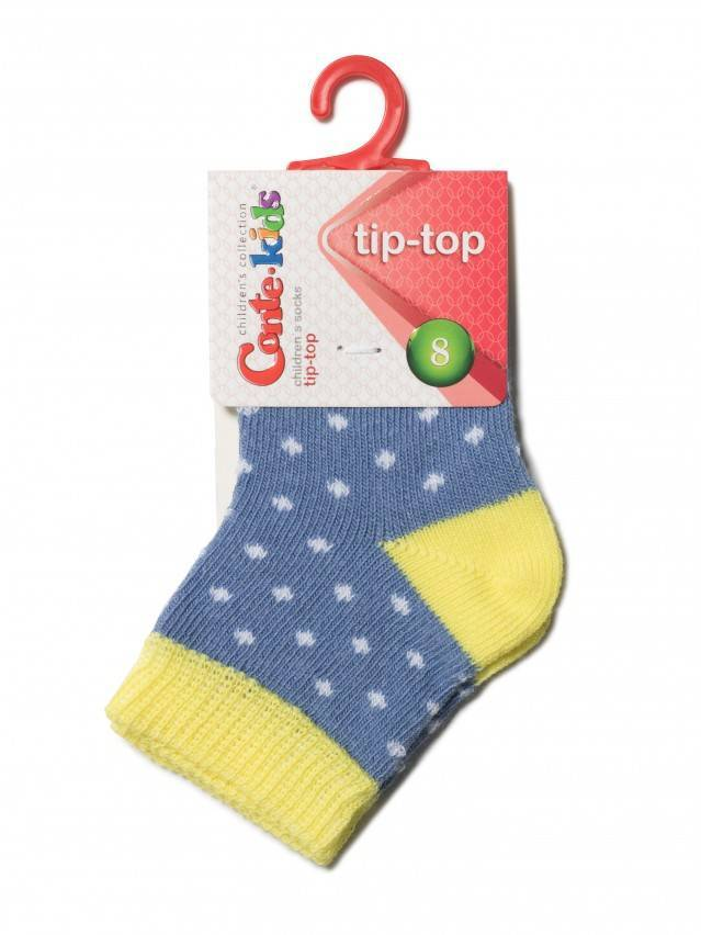Носки хлопковые детские TIP-TOP 5С-11СП, p. 10, джинс-желтый, рис. 214 - 2
