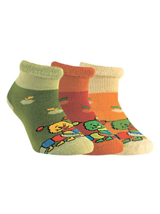 Носки хлопковые детские SOF-TIKI (махровые с отворотом) 6С-19СП, p. 12, желтый, рис. 072 - 1