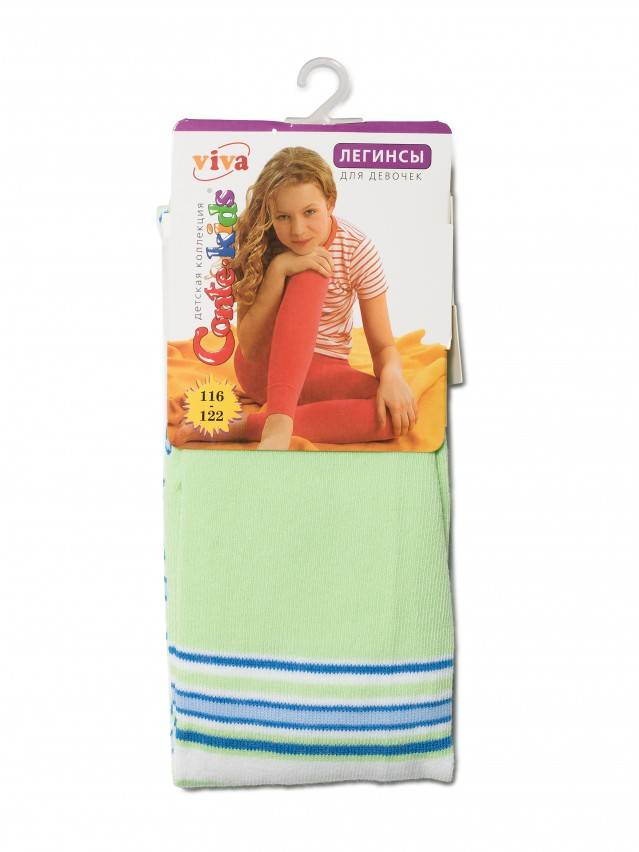 Леггинсы для девочек VIVA 6С-14СП, p. 116-122, светло-зеленый, рис. 006 - 2